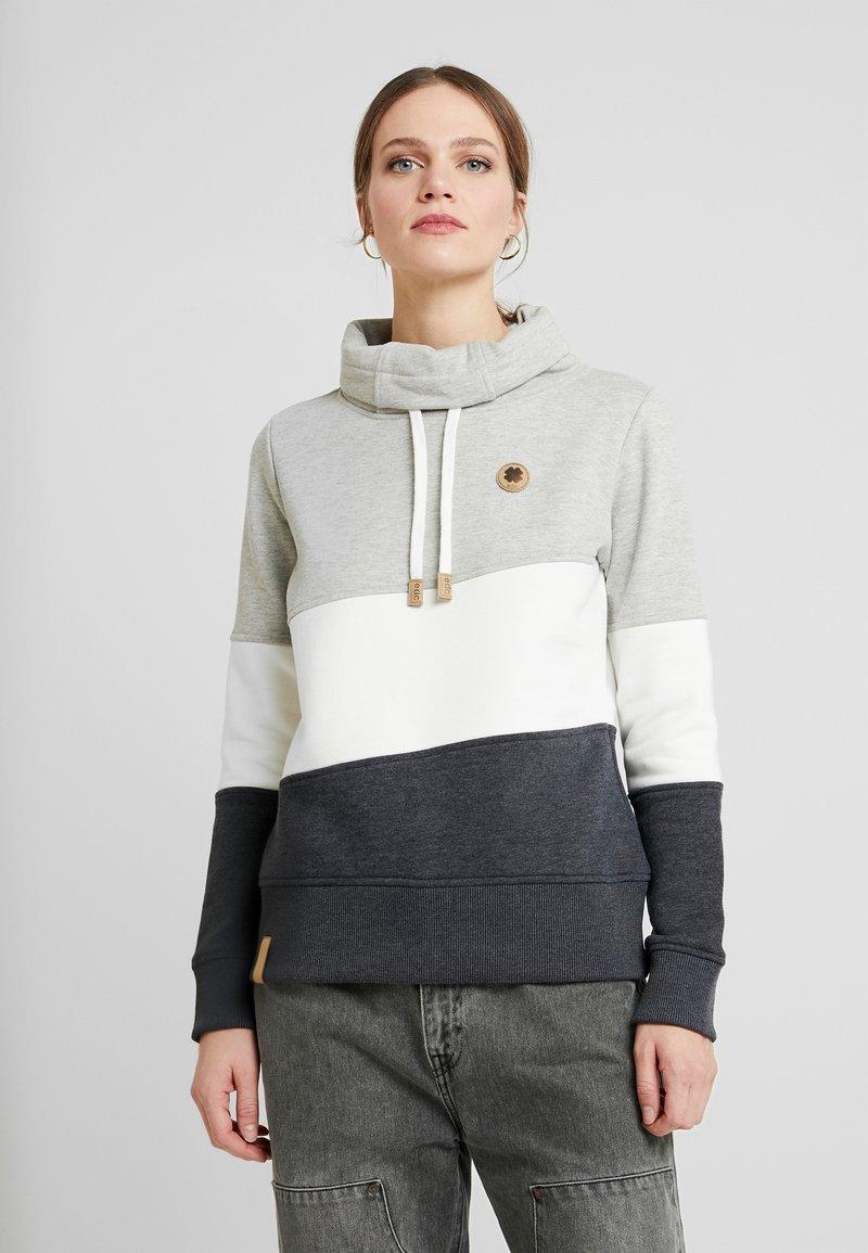edc by Esprit - COLORBLOCK HOOD - Sweater - light grey