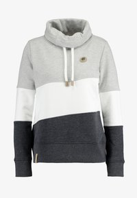 edc by Esprit - COLORBLOCK HOOD - Sweater - light grey - 4