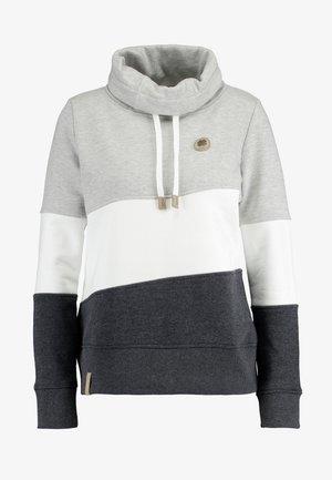 COLORBLOCK HOOD - Sweatshirt - light grey