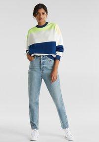 edc by Esprit - OVERSIZED-SWEATSHIRT MIT STREIFEN - Sweatshirt - ink - 3