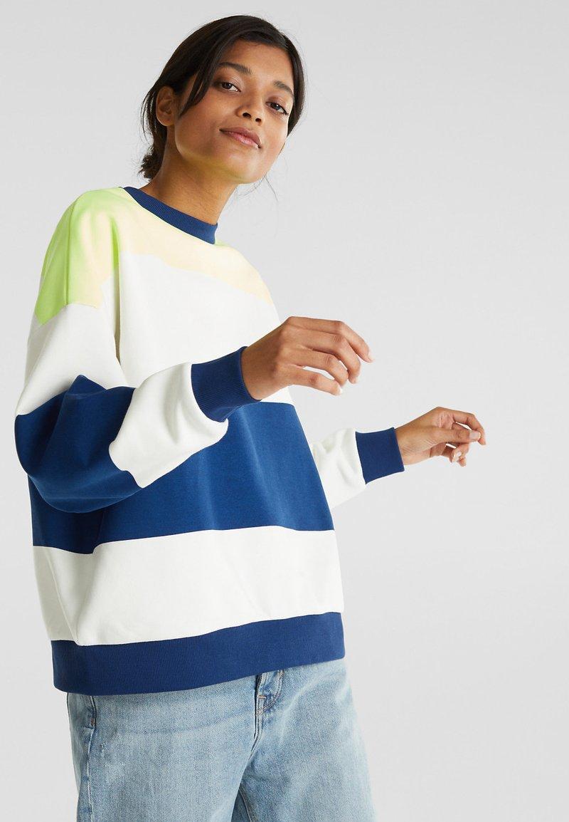 edc by Esprit - OVERSIZED-SWEATSHIRT MIT STREIFEN - Sweatshirt - ink
