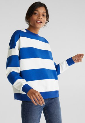 OVERSIZED-SWEATSHIRT MIT STREIFEN - Sweatshirt - bright blue
