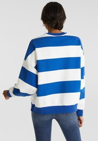 edc by Esprit - OVERSIZED-SWEATSHIRT MIT STREIFEN - Sweatshirt - bright blue - 2