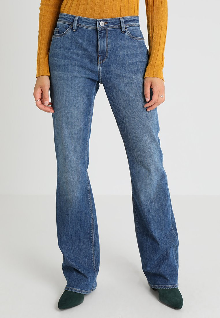 edc by Esprit - BOOT - Bootcut jeans - blue medium wash