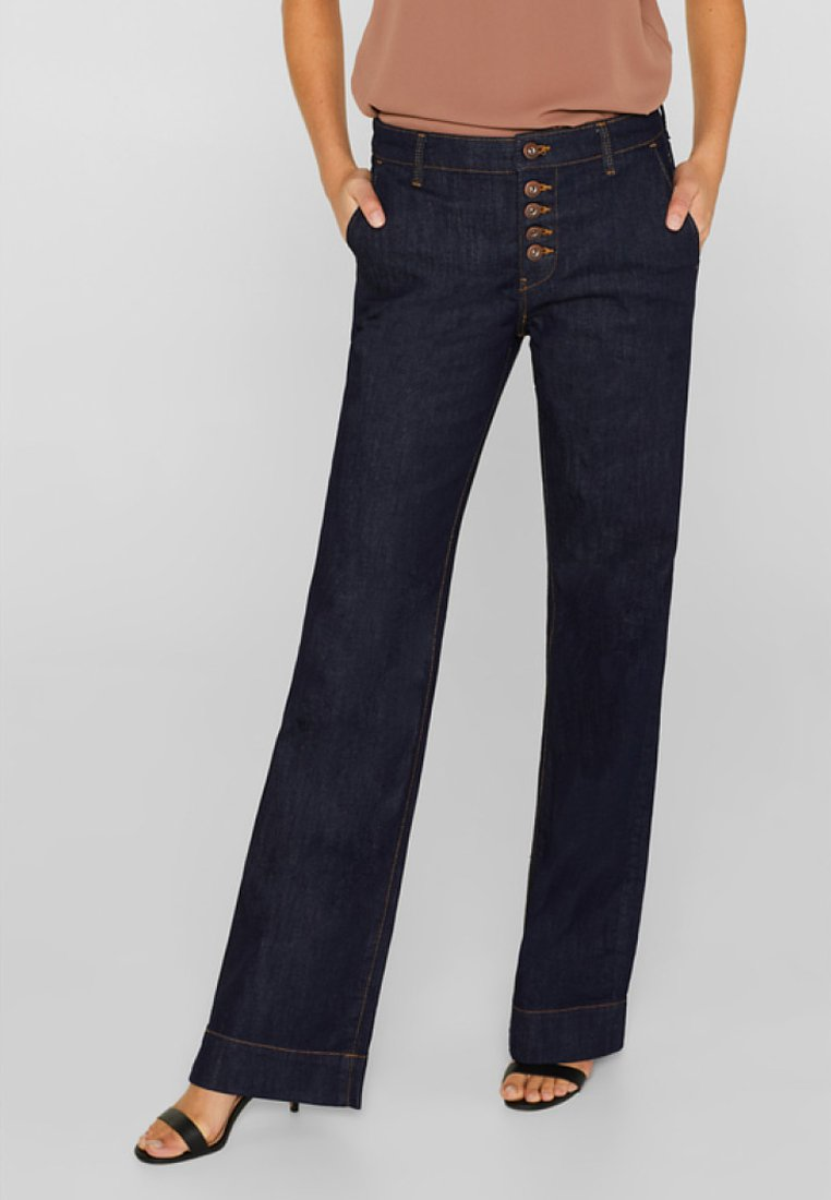 edc by Esprit - Flared Jeans - blue rinse