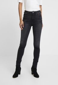 edc by Esprit - Jeansy Skinny Fit - black dark wash - 0