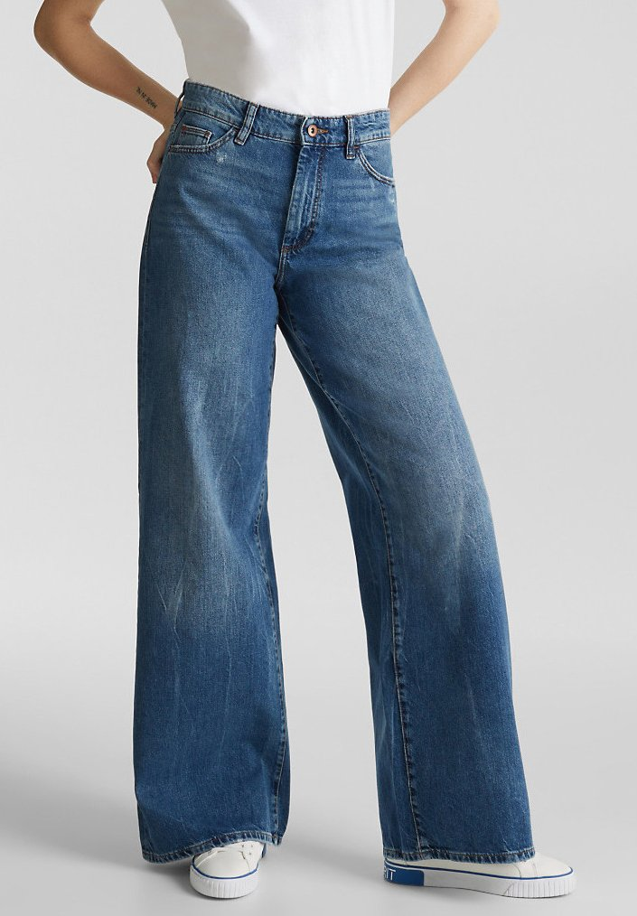 edc by Esprit - Flared Jeans - blue medium washed