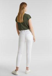 edc by Esprit - KNÖCHELLANGE STRETCH-PANTS - Jeans Skinny - white - 2