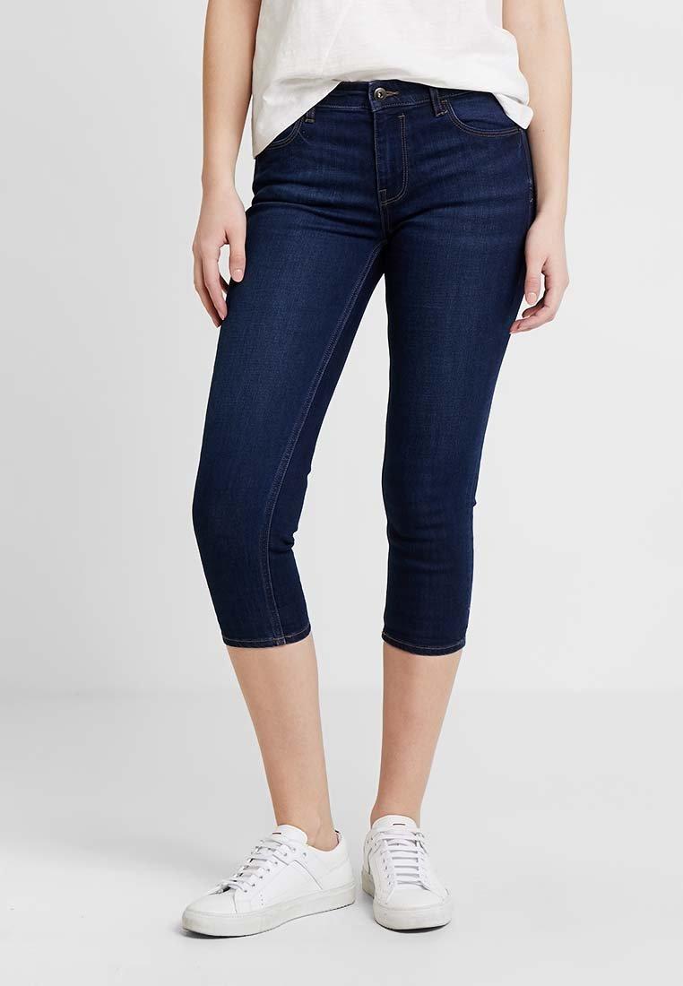 edc by Esprit - SLIM CROPPED - Shorts vaqueros - blue dark wash