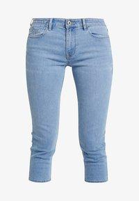 edc by Esprit - SLIM CROPPED - Denim shorts - blue light wash - 3