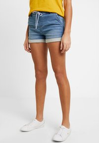 edc by Esprit - JOGG  - Denim shorts - blue medium wash - 0