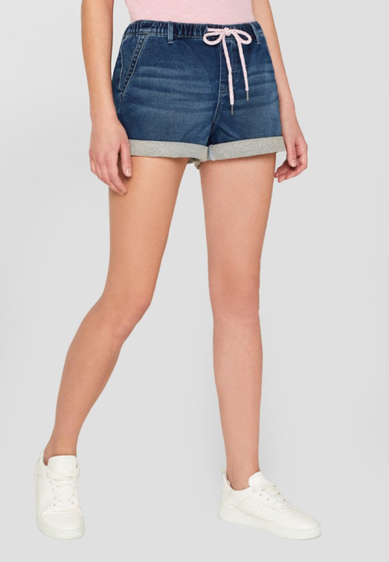 edc by Esprit - JOGG  - Jeans Shorts - blue dark washed