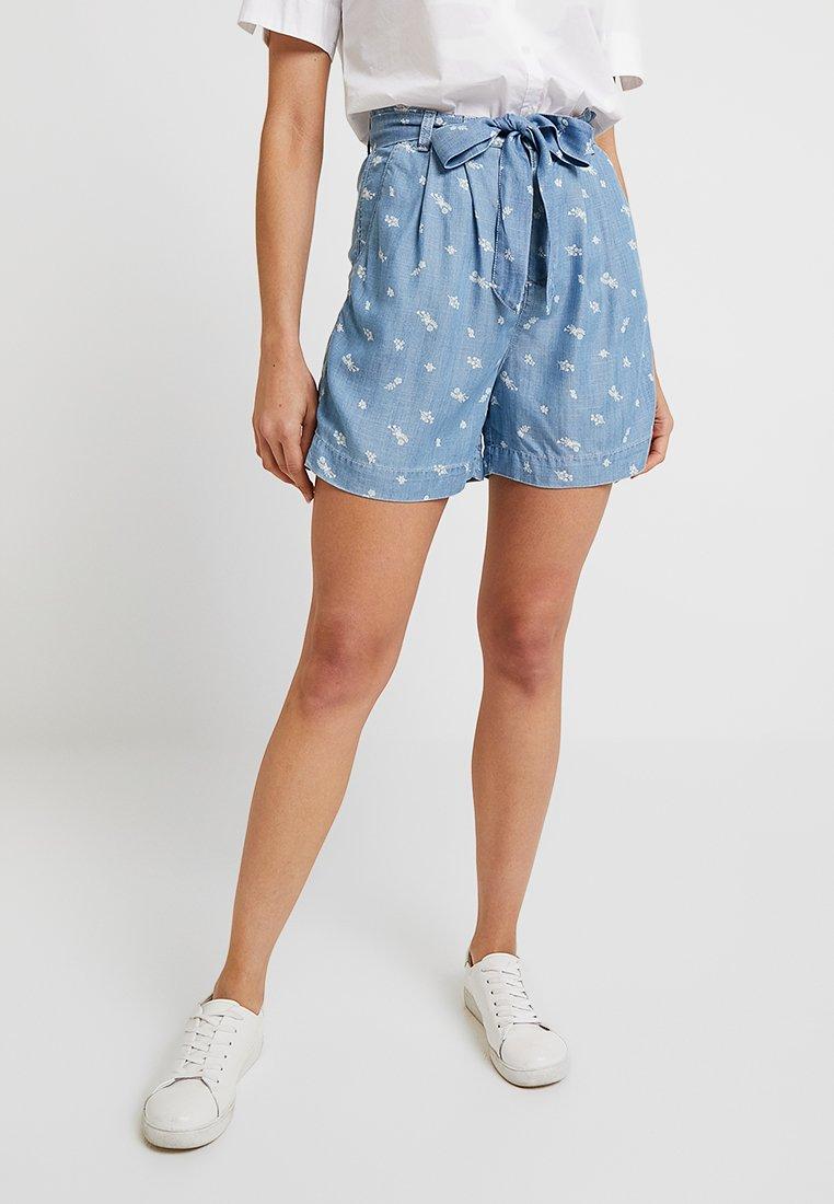 edc by Esprit - FLOWER - Shorts - blue light wash