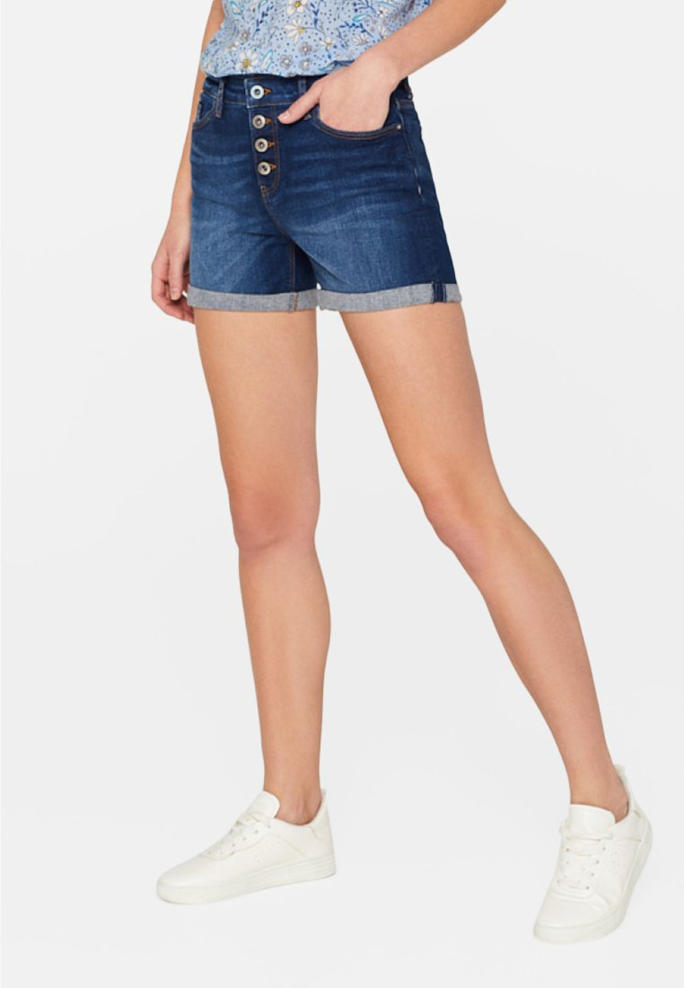 edc by Esprit - OCS MR - Jeans Shorts - blue dark washed