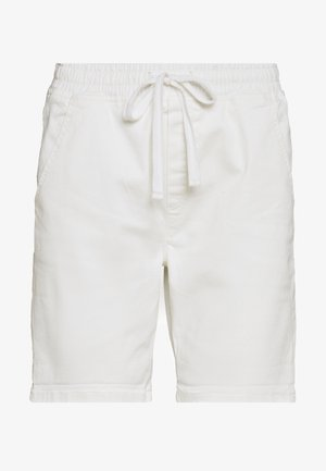 SLIM JOGGER - Jeans Shorts - white