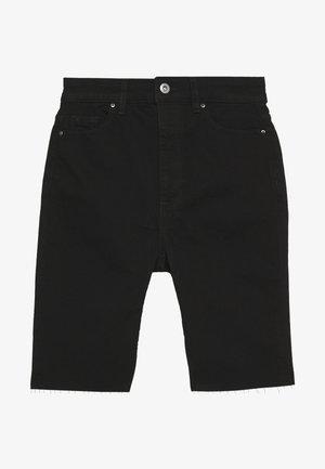 Denim shorts - black rinse