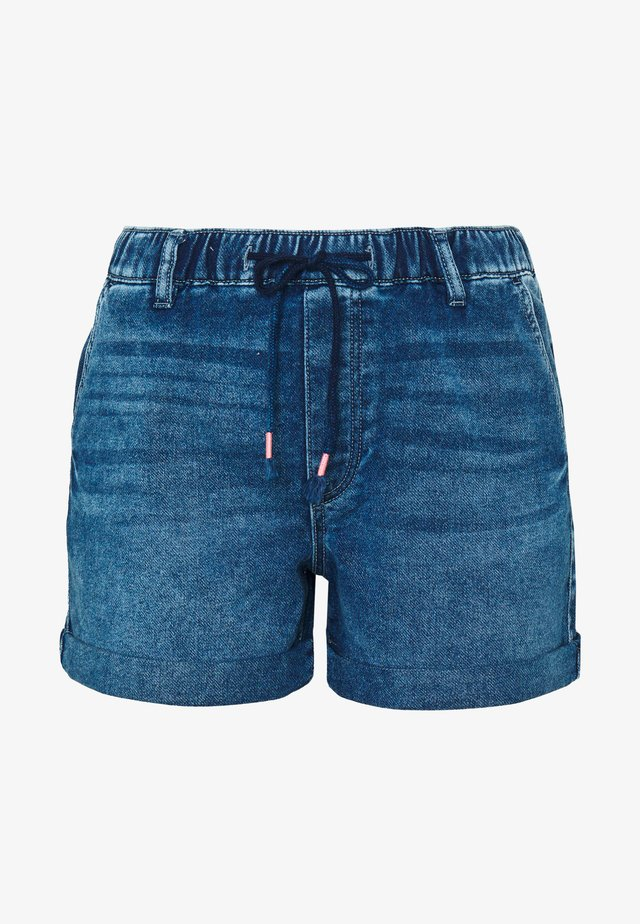 Denim-Shorts in Jogger-Qualität - Denim shorts - blue dark wash