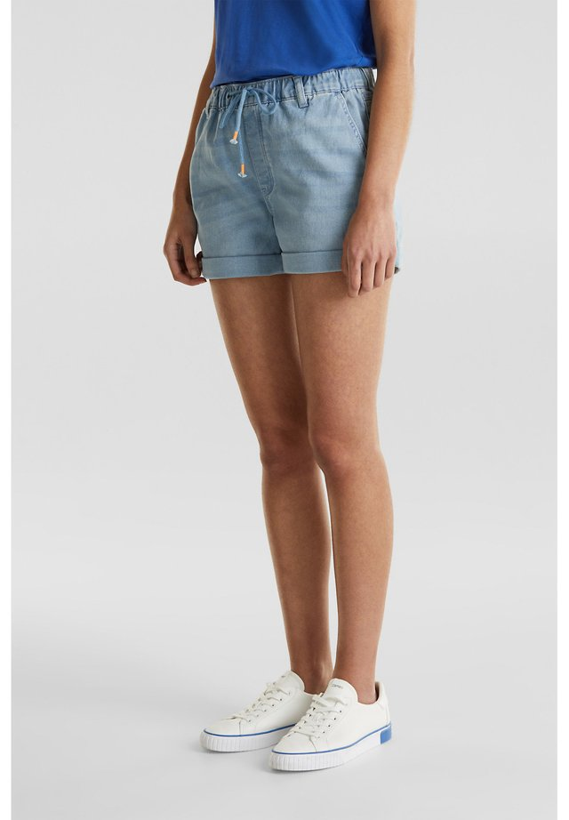 Denim-Shorts in Jogger-Qualität - Shorts vaqueros - blue light wash