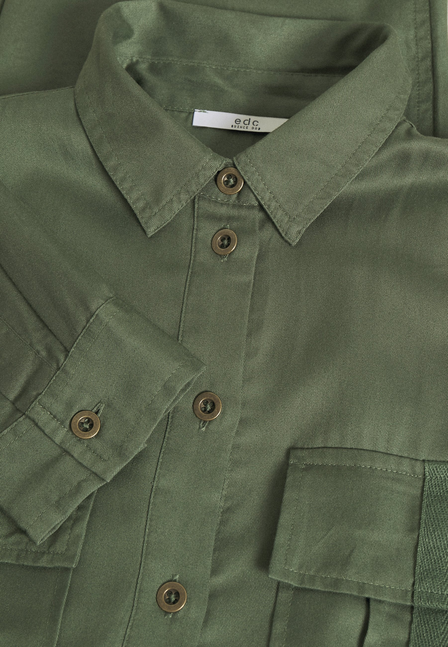 Edc By Esprit Jumpsuit - Khaki Green