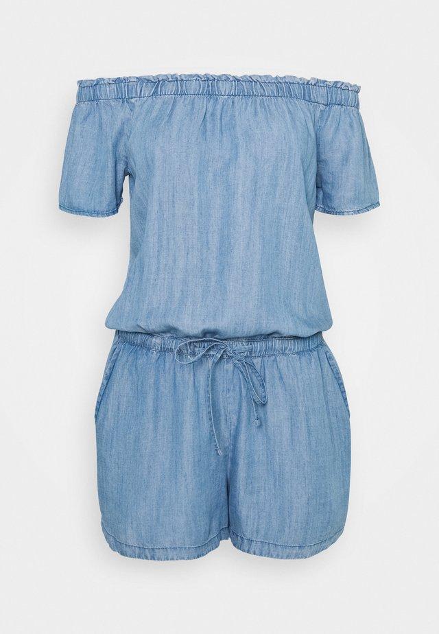 SHORT - Jumpsuit - blue light wash
