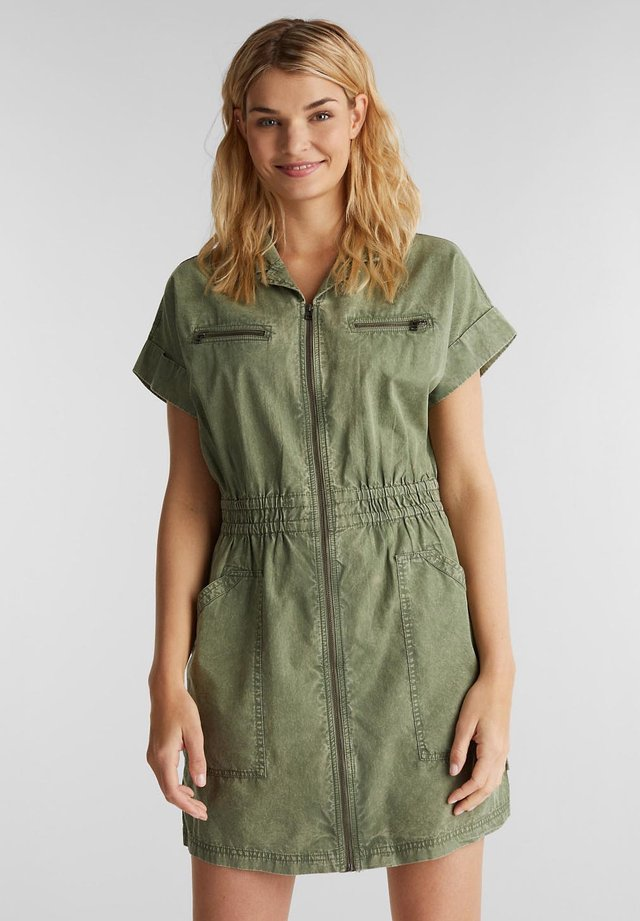 Spijkerjurk - khaki green