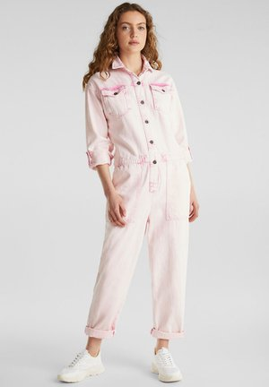 BOILERSUIT MIT ACID-WASCHUNG - Overall / Jumpsuit - pink