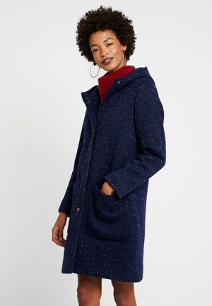 HOODED COAT - Classic coat - navy
