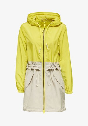 MIT MESH-FUTTER - Parka - lime yellow