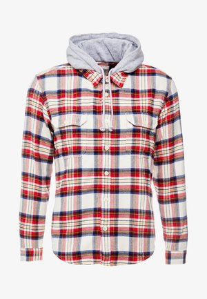 HOODED CHECK - Overhemd - bordeaux red
