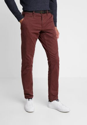 Chinos - bordeaux red