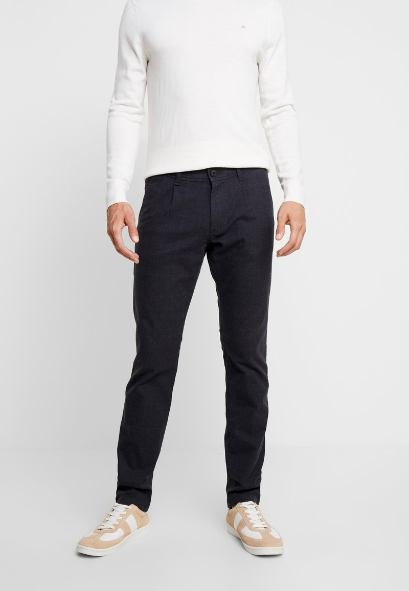 edc by Esprit - WINDOW CHECK - Trousers - navy