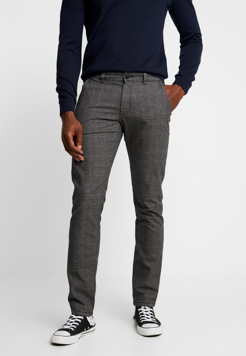 edc by Esprit - CHECK - Trousers - dark grey
