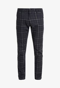 edc by Esprit - PRINT CHECK CHIN - Pantaloni - dark blue - 3