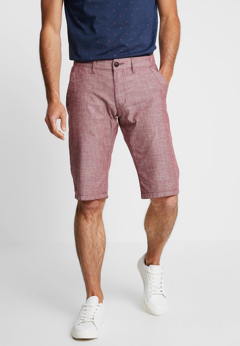 edc by Esprit - CHAMBRAY - Shorts - bordeaux red
