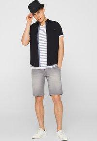 edc by Esprit - Denim shorts - dark grey - 1