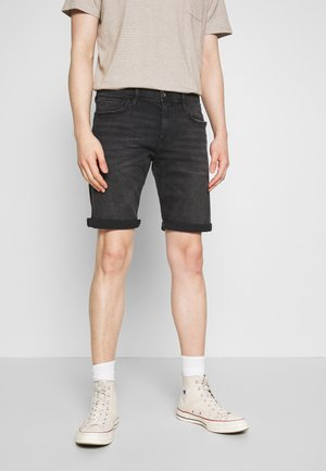 Denim shorts - black dark wash