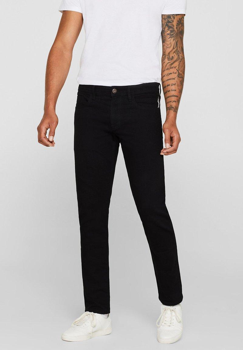edc by Esprit - Slim fit jeans - black rinse