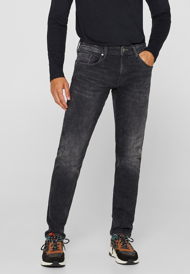 edc by Esprit - Straight leg jeans - black denim