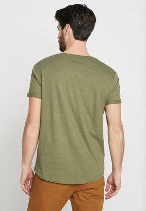 LONG TEE - T-paita - khaki green