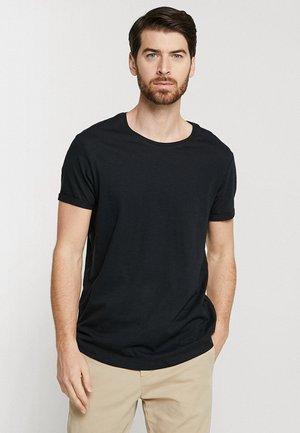 LONG TEE - Jednoduché triko - black