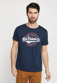 edc by Esprit - TEE - T-Shirt print - navy - 0