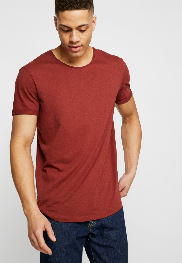edc by Esprit - LONGER TEE - Basic T-shirt - terracotta