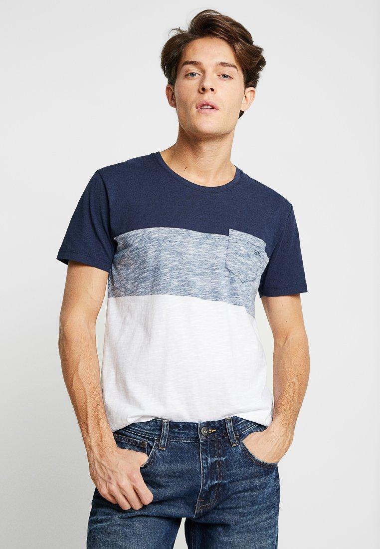 edc by Esprit - BLOCK TEE - Print T-shirt - navy