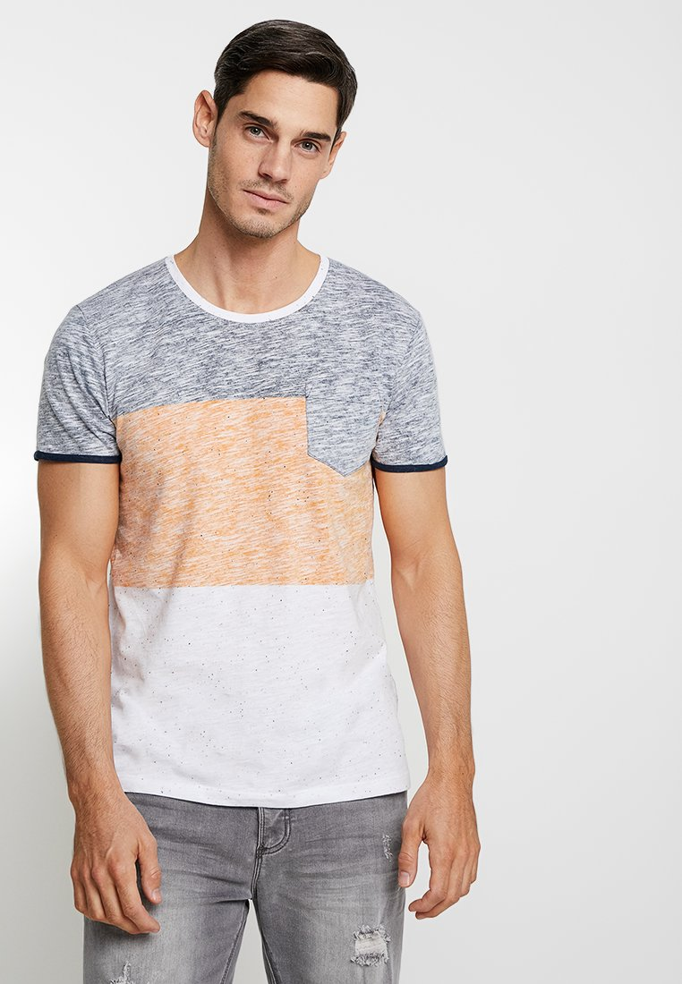 edc by Esprit - COLORBLOCK TEE - T-Shirt print - navy