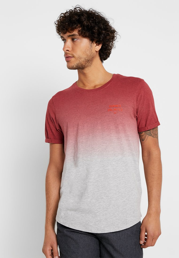 edc by Esprit - LONG SHAPE TEE - T-Shirt print - terracotta