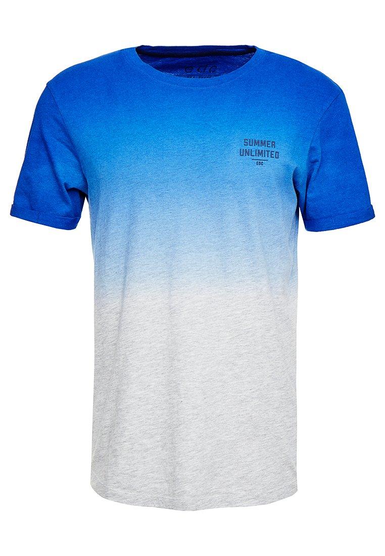 edc by Esprit - LONG SHAPE TEE - Print T-shirt - bright blue