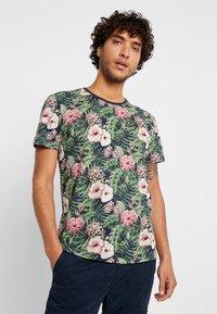 edc by Esprit - TEE - T-shirt med print - navy - 0