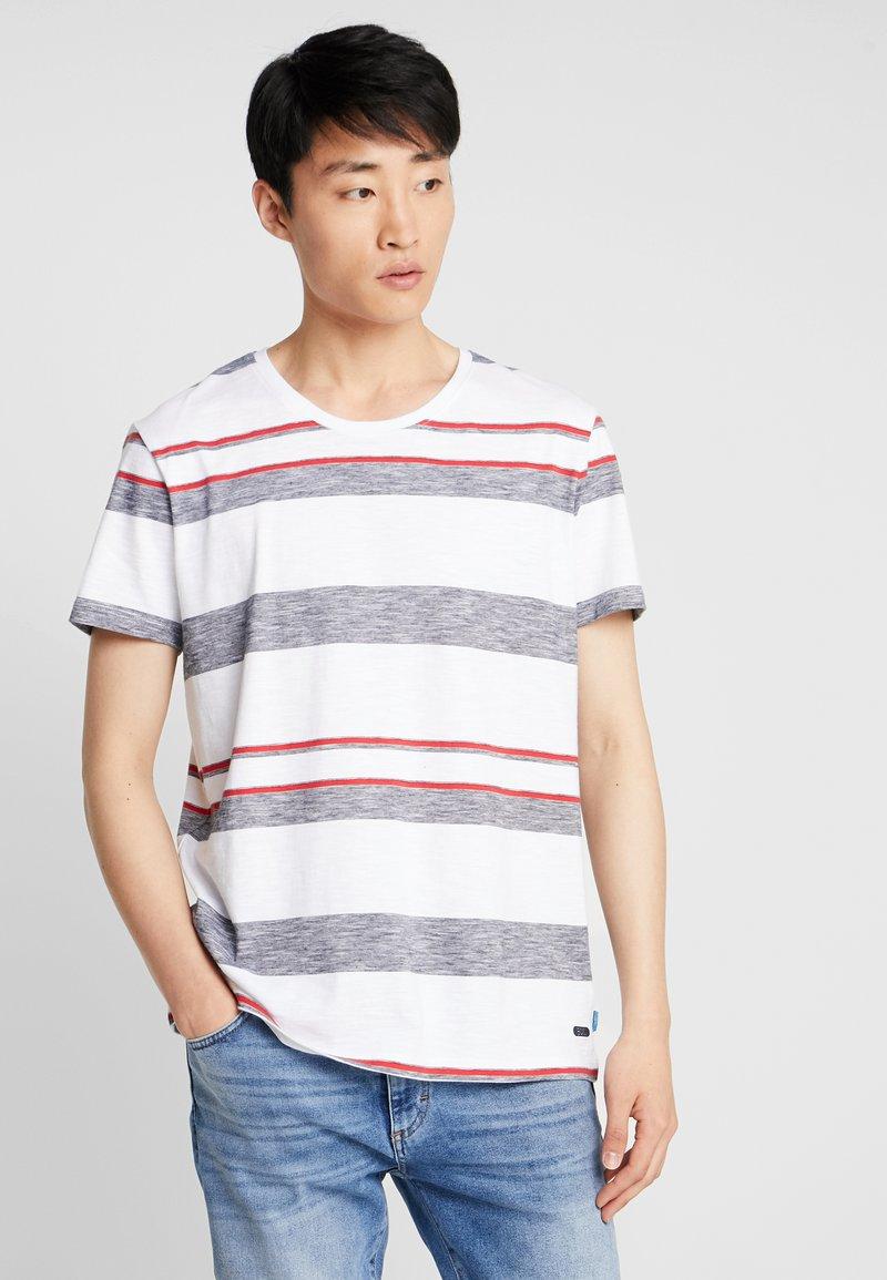 edc by Esprit - FEEDER STRIPE TEE - T-Shirt print - white