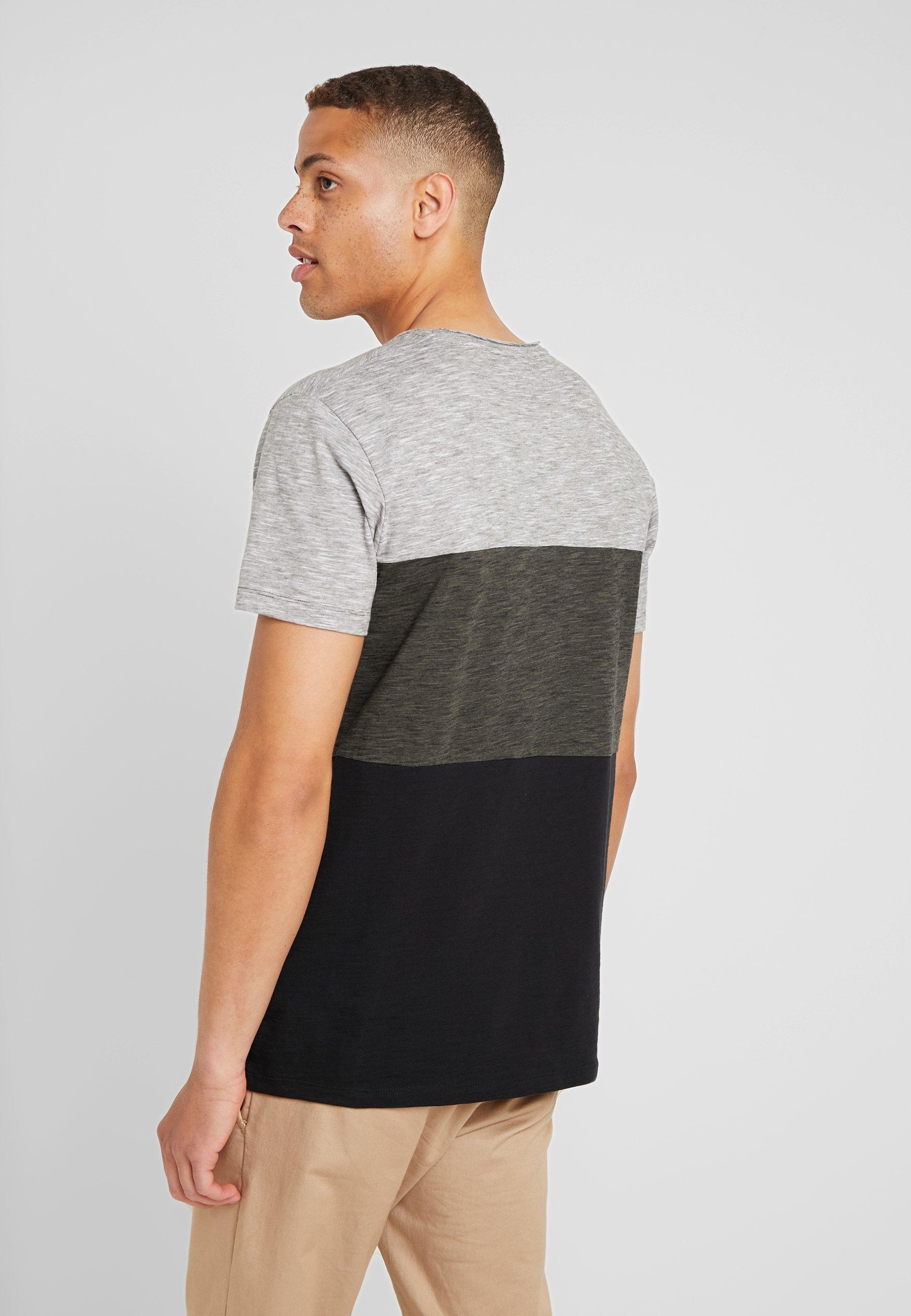 Color shirt Khaki Dark Esprit Block TeeT Edc By Imprimé wNvnm8O0