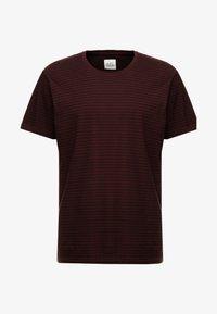 edc by Esprit - CORE - Print T-shirt - plum red - 3
